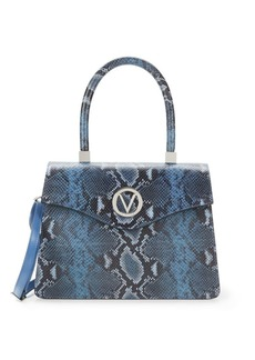 Valentino by Mario Valentino Melanie Embossed Leather Top Handle Satchel