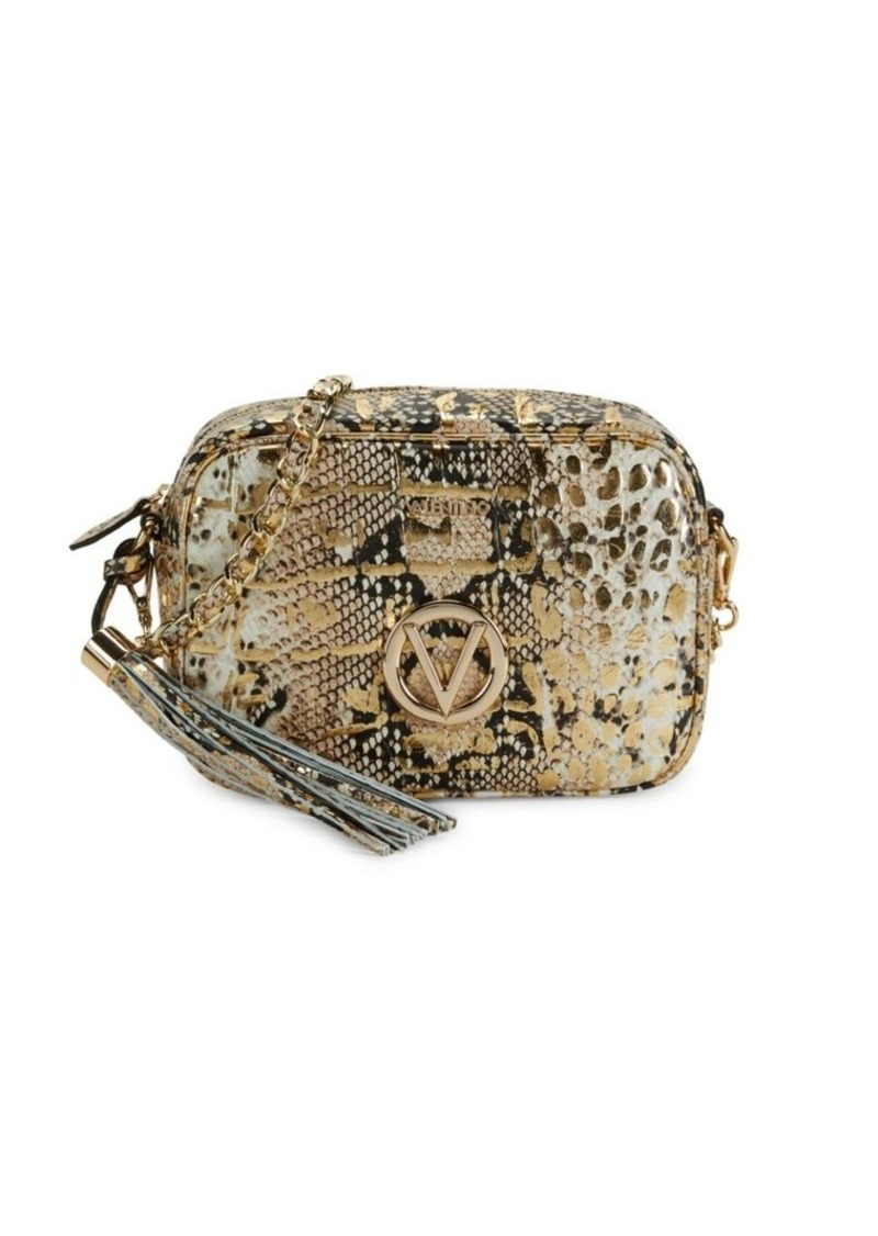 Valentino by Mario Valentino Mia Embossed-Snakeskin Leather Mini Bag