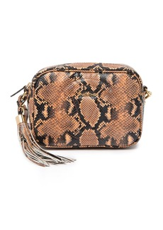 Valentino by Mario Valentino Mia Python Leather Crossbody Bag