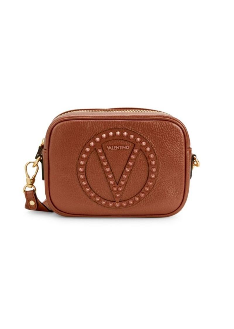 Valentino by Mario Valentino Mia Rock Dollaro Studded Leather Crossbody