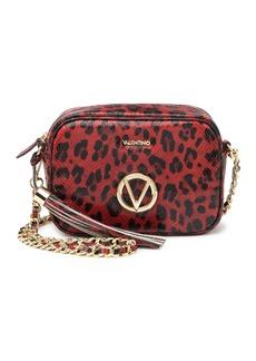 Valentino by Mario Valentino Mia Snakeskin Embossed Leather Crossbody Bag