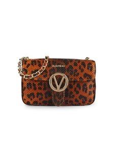 Valentino by Mario Valentino Poisson Animalier Embossed-Leather Crossbody Bag
