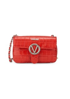 Valentino by Mario Valentino Poisson Croc-Embossed Leather Satchel