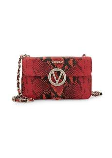 Valentino by Mario Valentino Poisson Python-Embossed Leather Crossbody Bag