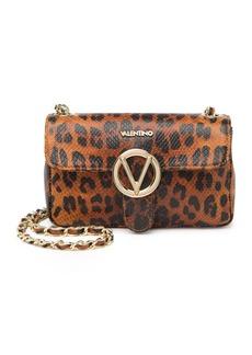 Valentino by Mario Valentino Poisson Snakeskin Embossed Leather Shoulder Bag