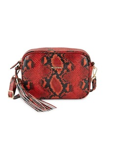 Valentino by Mario Valentino Python-Embossed Leather Crossbody Bag