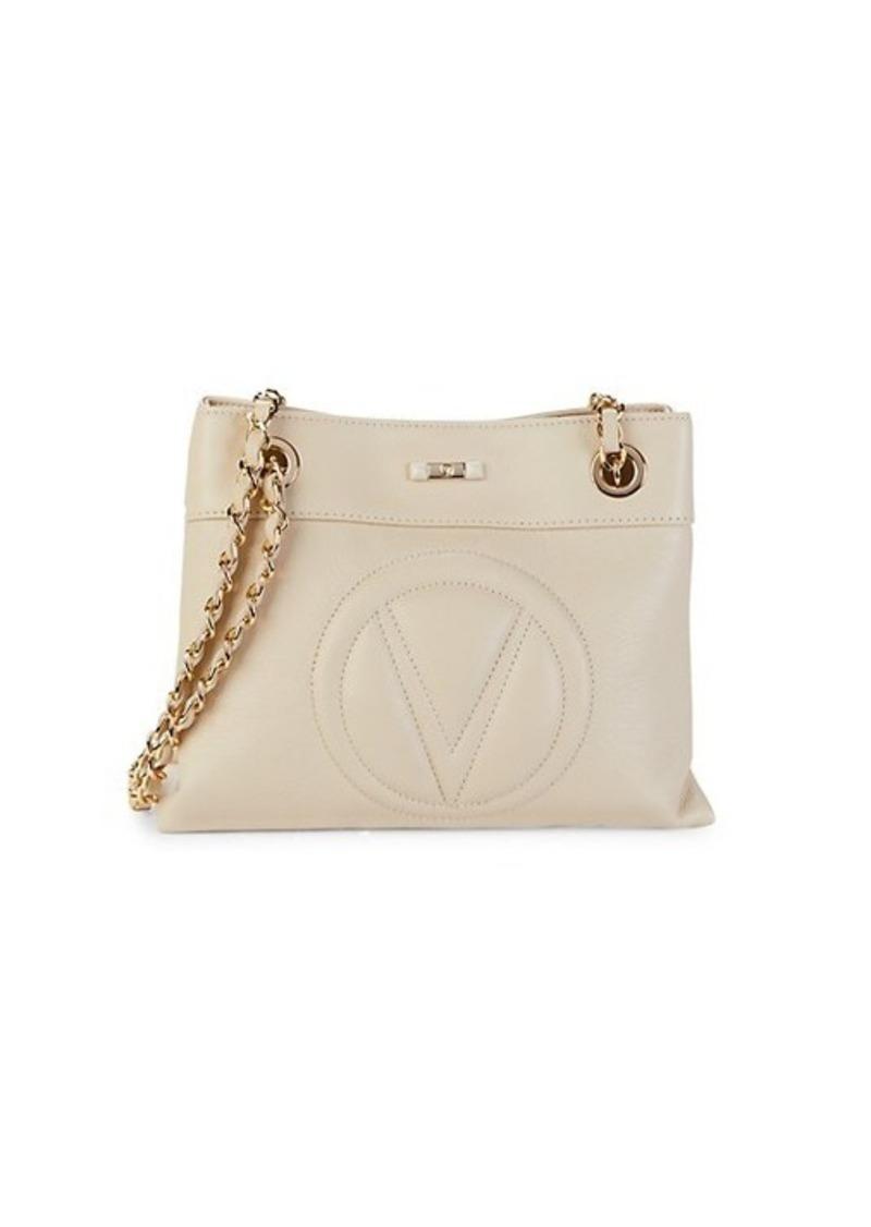 Valentino by Mario Valentino Rita Leather Logo Shoulder Bag