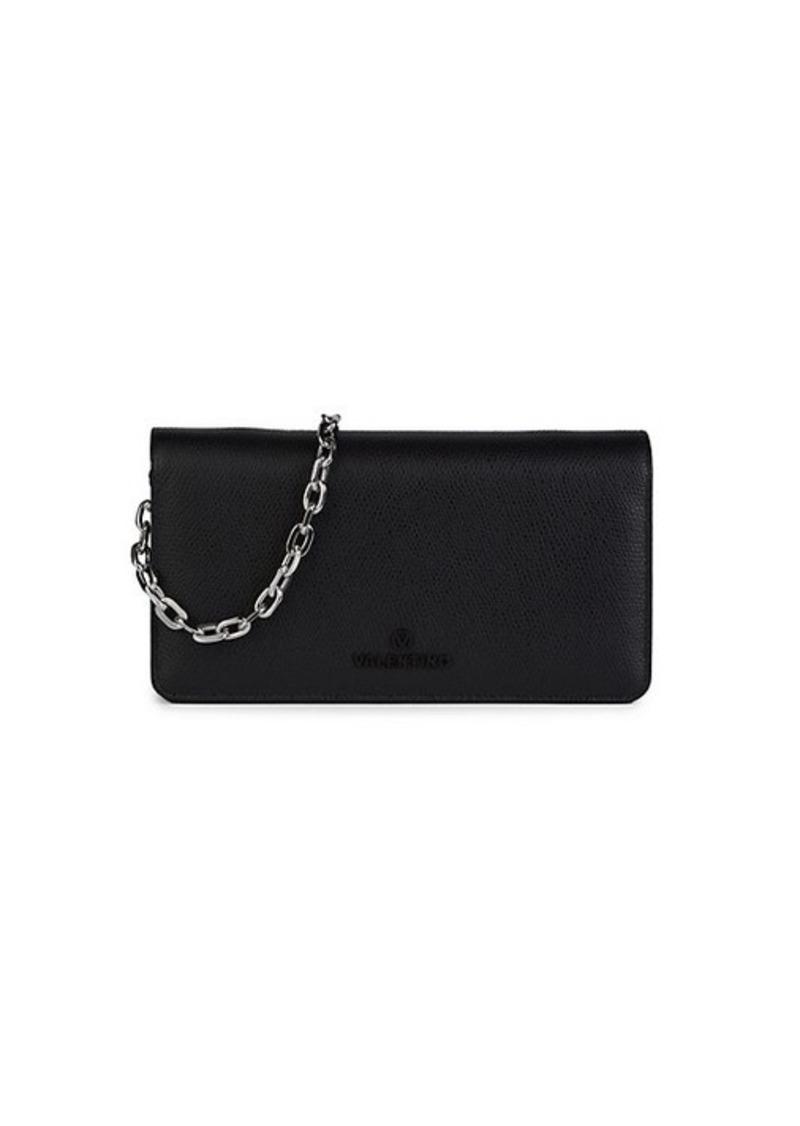 Valentino by Mario Valentino Sam Leather Chain Wallet