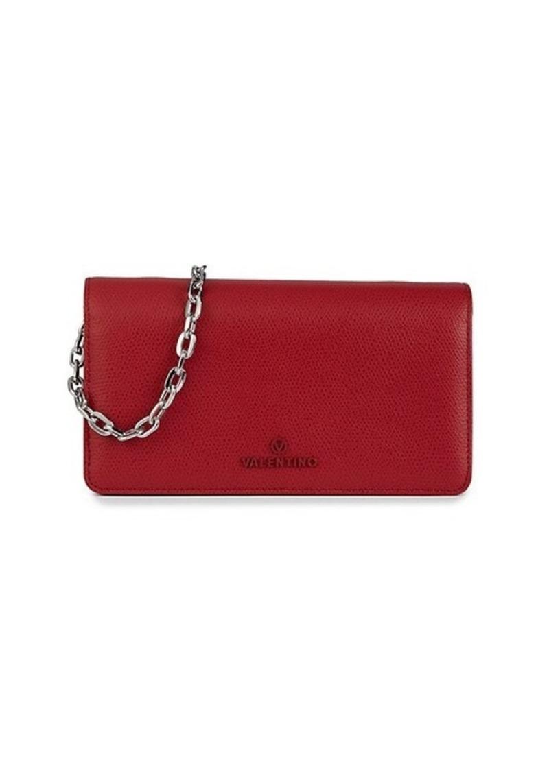 Valentino by Mario Valentino Sam Palmellato Leather Chain Wallet