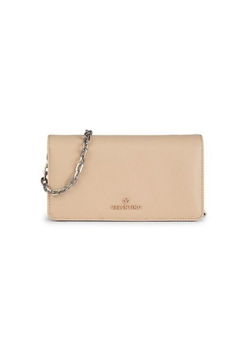 Valentino by Mario Valentino Sam Palmellato Leather Continental Chain Wallet