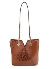 Valentino by Mario Valentino Sandrine Monogram-Print Leather Shoulder Bag