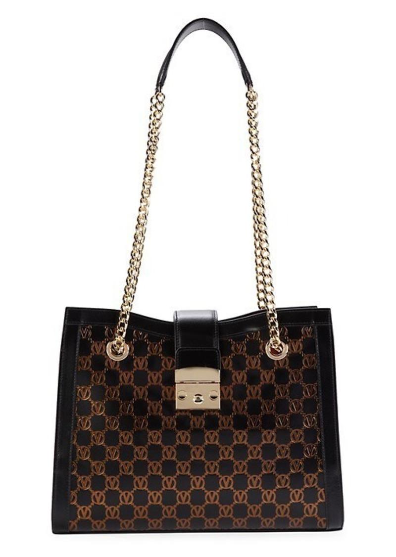 Valentino by Mario Valentino Sephora Monogram-Print Leather Shoulder Bag