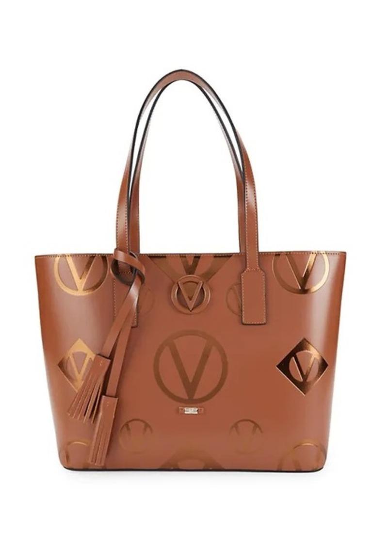 Valentino by Mario Valentino Soho Logo Leather Tote