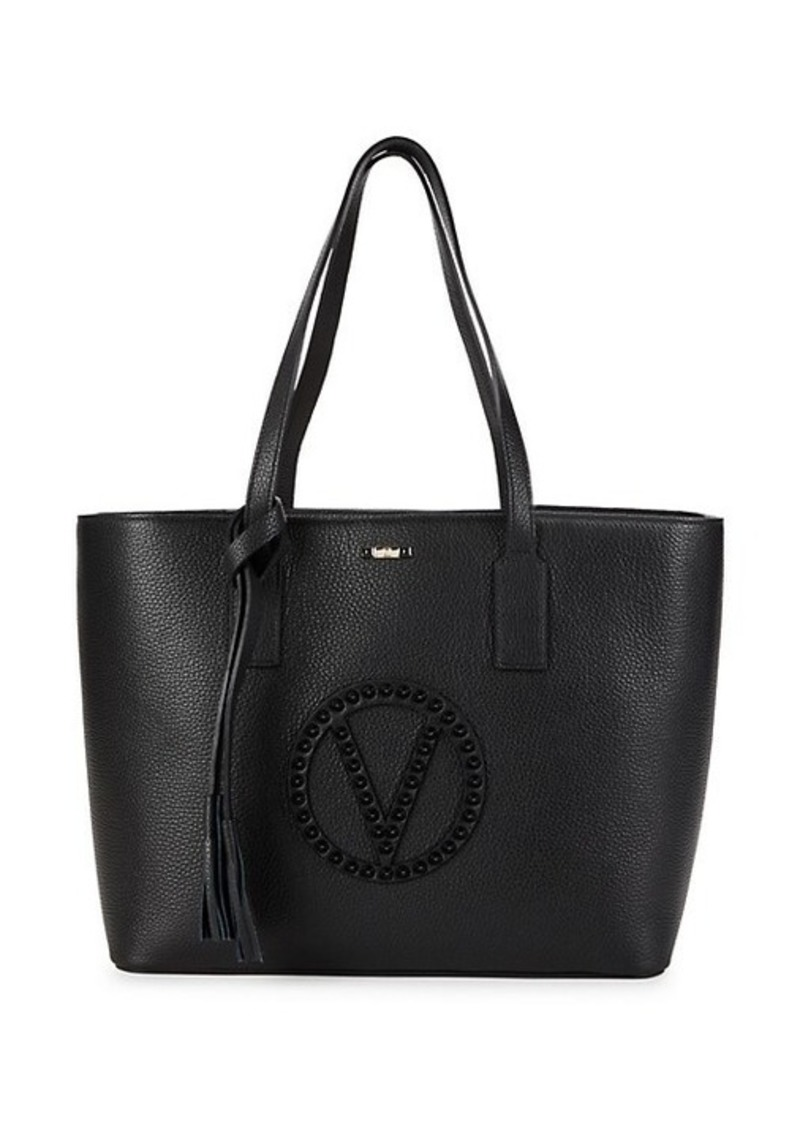 Valentino by Mario Valentino Soho Rockstud Logo Leather Tote