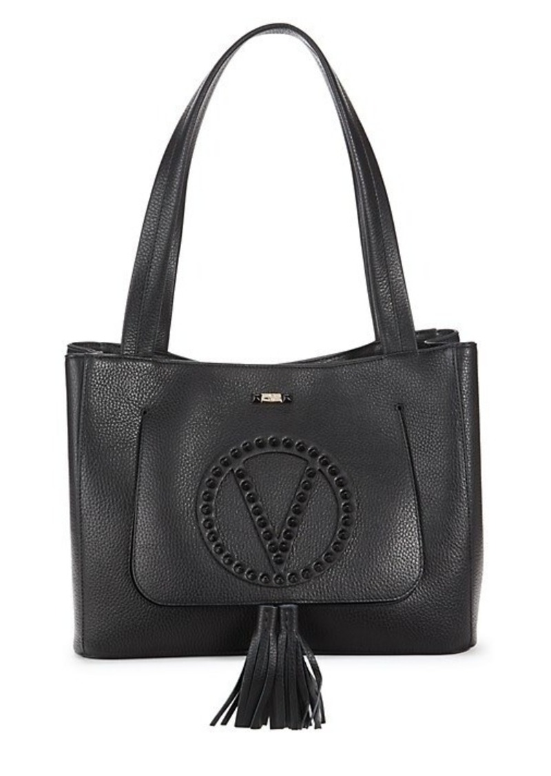 Valentino by Mario Valentino Studded Estelle Leather Tote