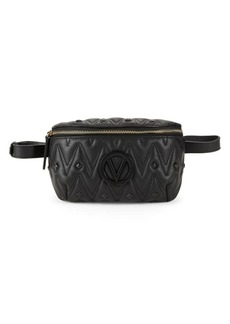 Valentino by Mario Valentino Studded Leather Belt Bag