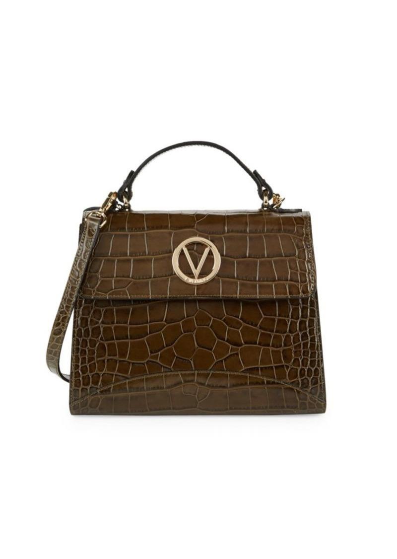 Valentino by Mario Valentino Sunny Croco-Embossed Leather Shoulder Bag