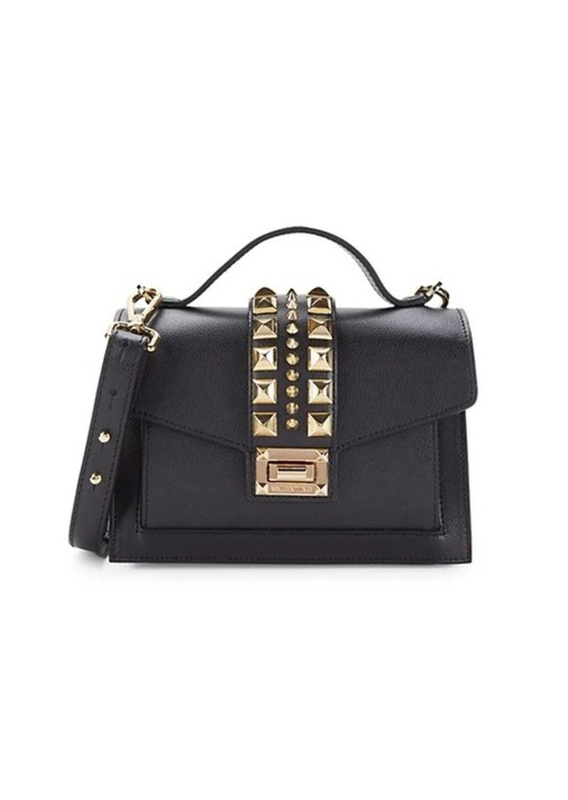Valentino by Mario Valentino Titti Studded Leather Top Handle Bag