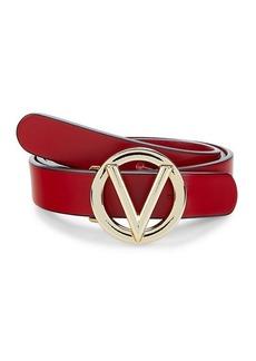 Valentino by Mario Valentino V-Logo Leather Belt