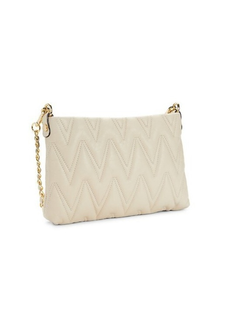 Valentino by Mario Valentino Vanille D Chevron-Quilted Leather Shoulder Bag