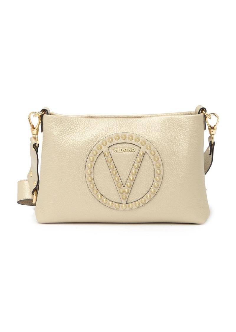 Valentino by Mario Valentino Vanille Rock Studded Leather Crossbody Bag