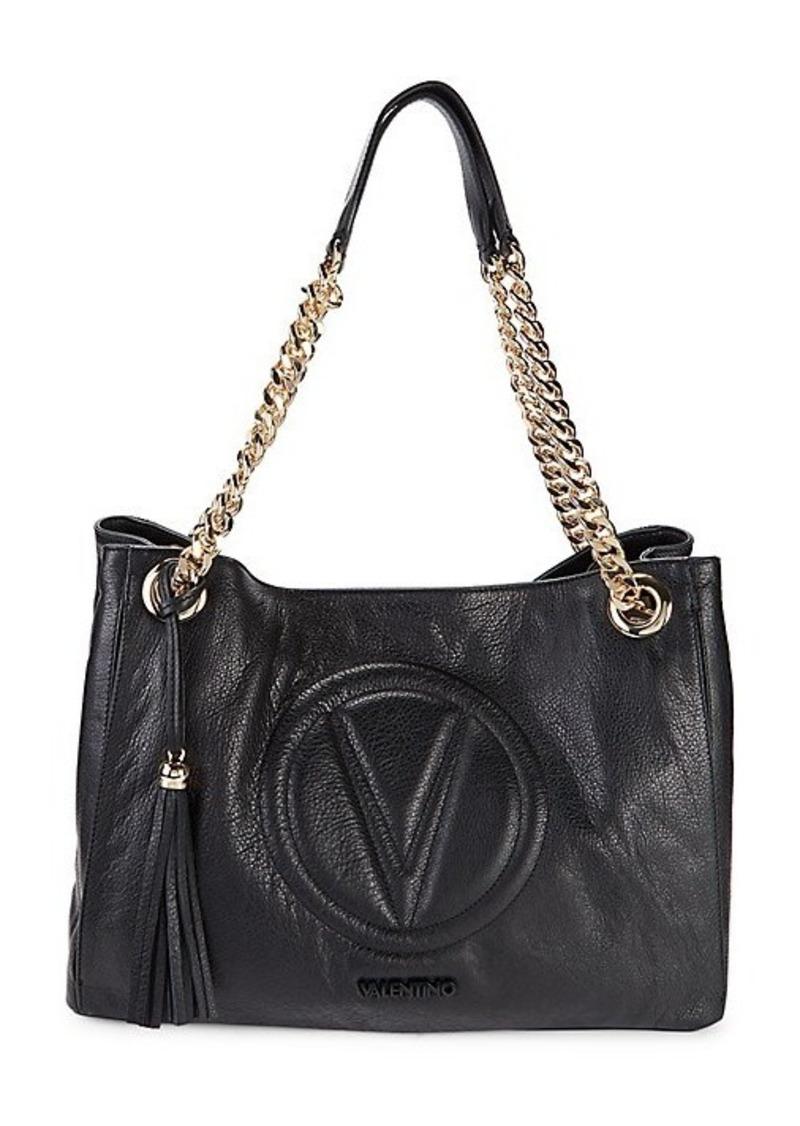 Valentino by Mario Valentino Verra Logo Leather Tote