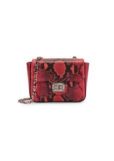 Valentino by Mario Valentino Vivian Python-Embossed Leather Mini Bag