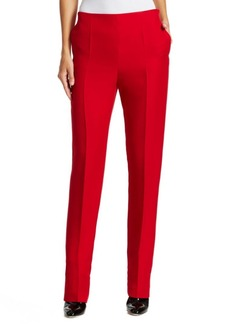 Valentino Cady Silk Tailored Skinny Pants