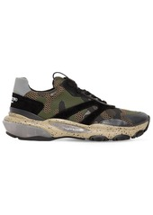 Valentino Camouflage Bounce Leather Sneakers