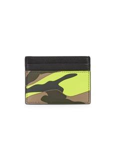 Valentino Garavani Camouflage Credit Card Case