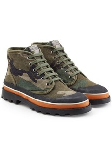 Valentino Camouflage Printed Ankle Boots