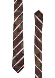 Valentino Camouflage Printed Silk Tie