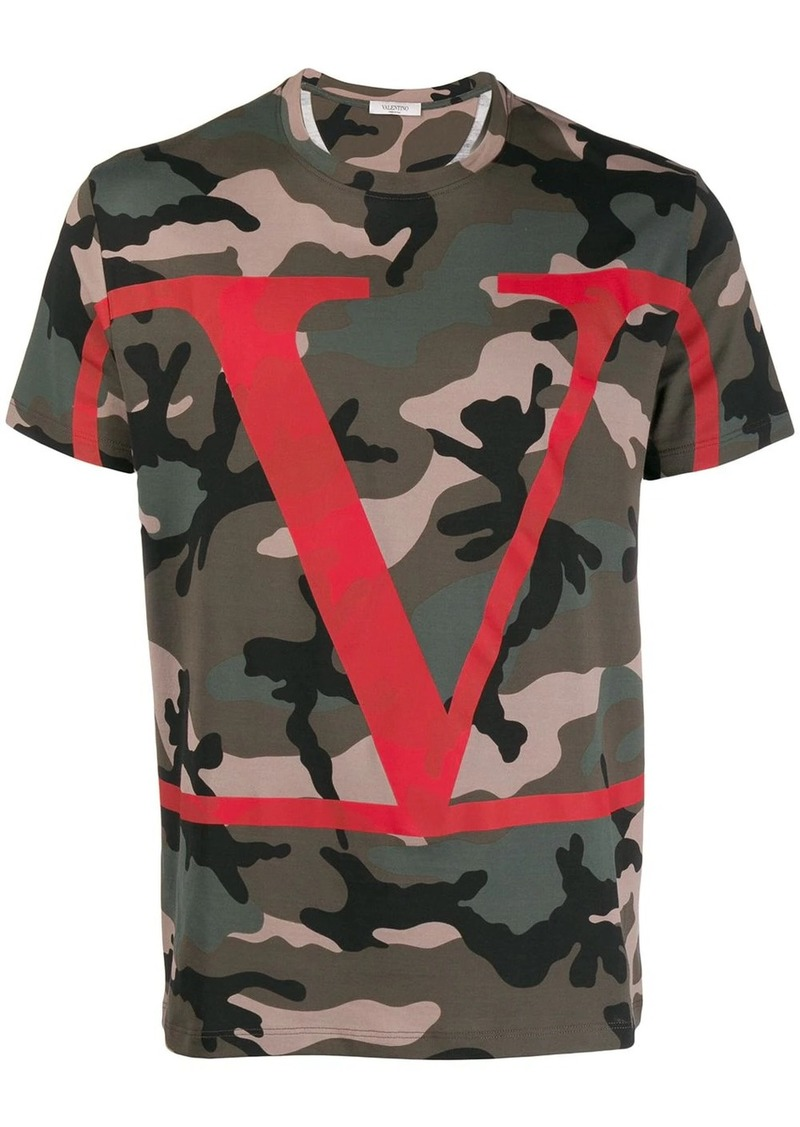 Valentino camouflage T-shirt with VLOGO