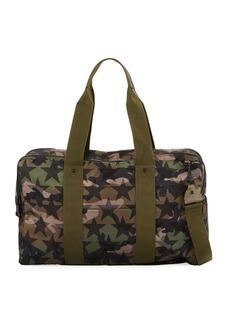 Valentino Camouflage Zip Briefcase