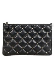 Valentino Candy Studded Quilted Pouch
