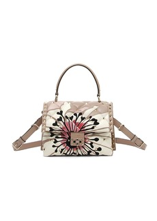 Valentino Candystud Quilted Flower Top Handle Bag