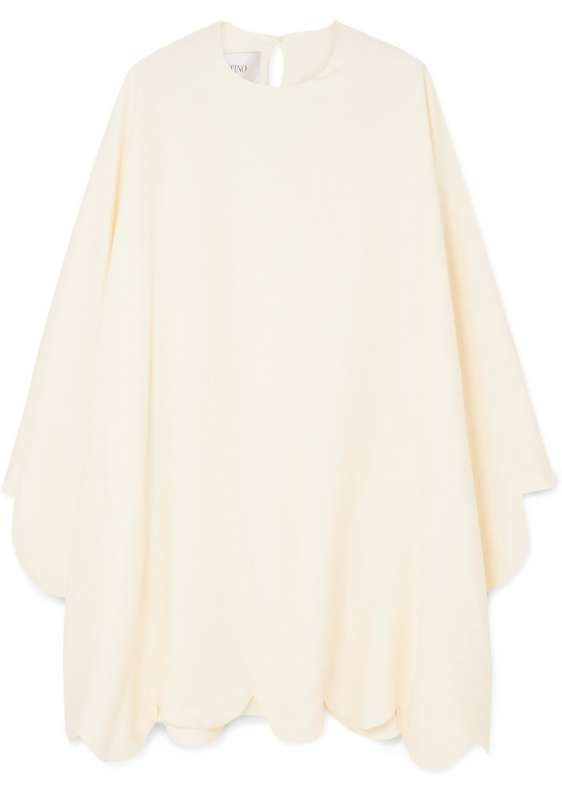Valentino Cape-effect Scalloped Cady Mini Dress