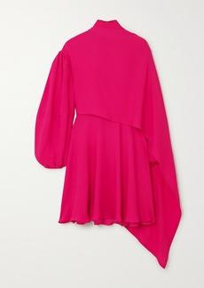 Valentino Cape-effect Tie-neck Silk-chiffon Mini Dress