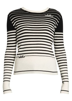 Valentino Cashmere & Wool Stripe Knit Sweater
