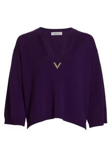 Valentino Cashmere V-Neck Sweater