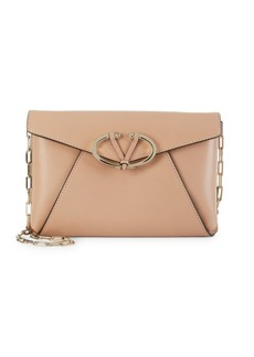 Valentino Chain-Strap Leather Clutch