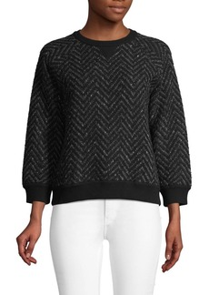 Valentino Chevron Wool Blend Sweater