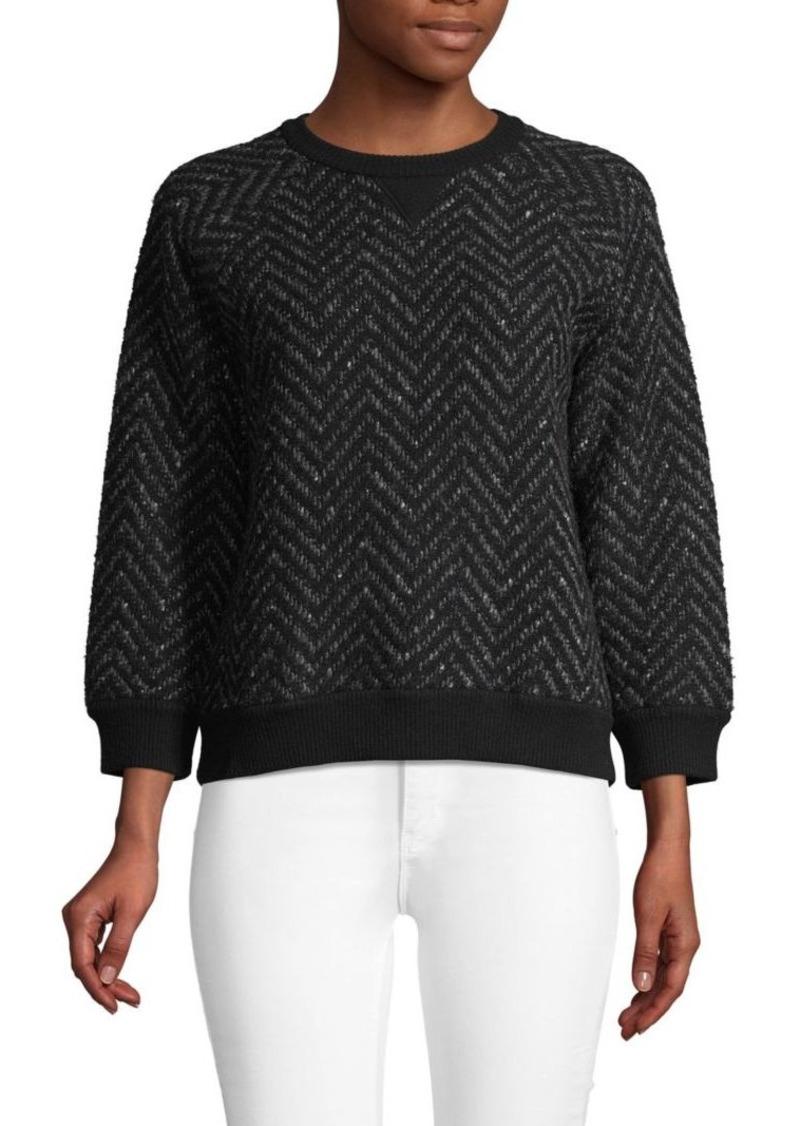 Valentino Chevron Wool Blend Sweater