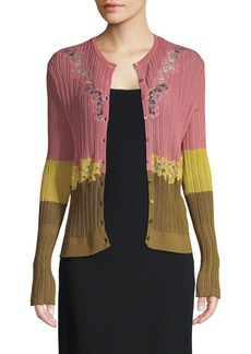 Valentino Colorblock Cardigan Sweater