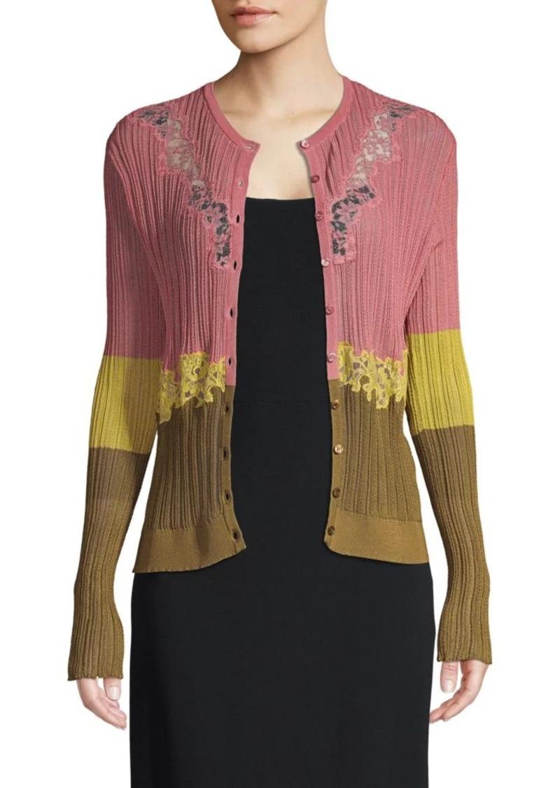 Valentino Colorblock Cardigan Sweater