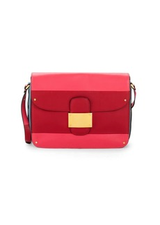Valentino Colorblock Leather Shoulder Bag