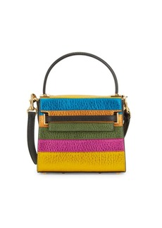 Valentino Colorblock Leather Top Handle Bag
