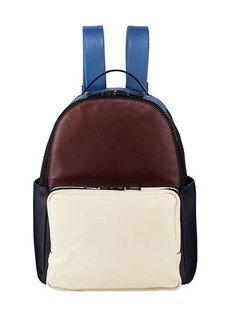 Valentino Colorblock Smooth Leather Backpack