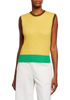 Valentino Colorblocked Silk Knit Tank Top