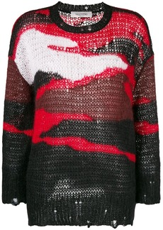 Valentino colour block knitted sweater
